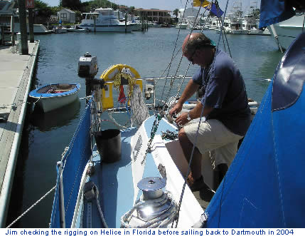 ... onboard Helice their Westerly 33 ketch. Jim has prepared his own yachts ...
