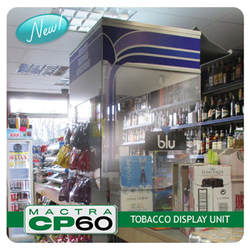 Mactra Shop Equipment and Fittings Ltd new CP60 tobacco display unit